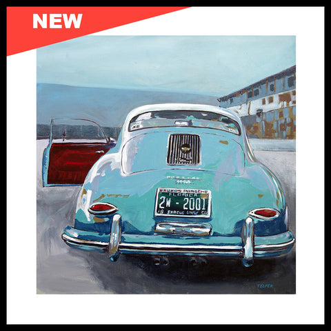 "SOLD! NEW! 'Mark Pribanic's Driven 356 Porsche' Original Painting, 24"" x 24"""