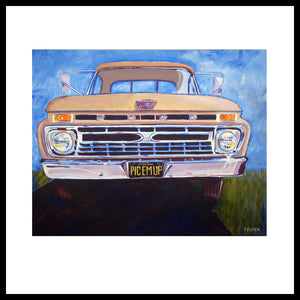 "'Pic-em-up' Classic Ford Truck, 24"" x 30"", Acrylic on Canvas, Call for Price"