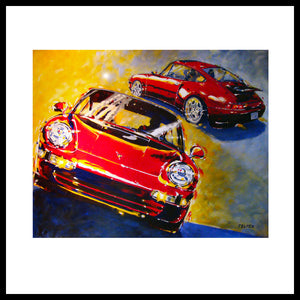 'Red Porsche 993'- best of breed 911, Fine Art Prints