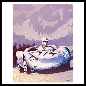 'Porsche 1957 RSK' Vintage Racing Fine Art Print from original painting by Kelly Telfer