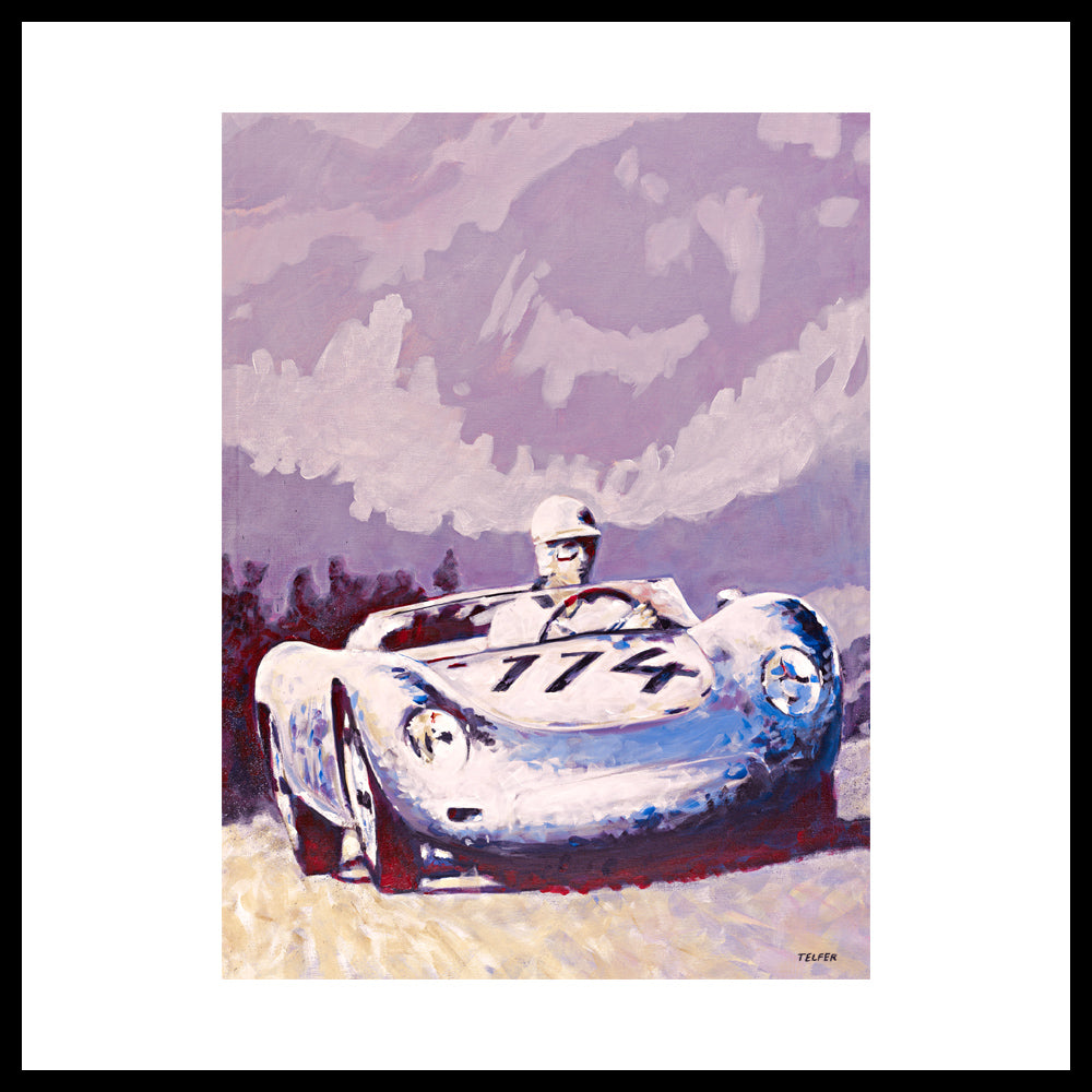 "'Porsche 1957 RSK' Vintage Racing, 36"" x 24"", Acrylic on Canvas, Call for Price"