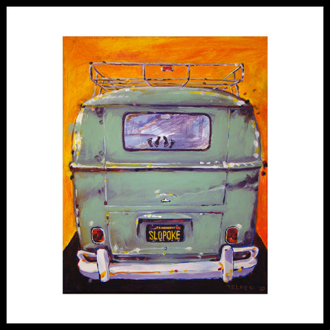 'Slopoke VW Bus' Volkswagen Type II, Fine Art Prints