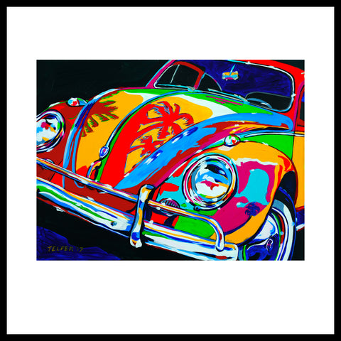 'VW Beach Bug' Fine Art Prints