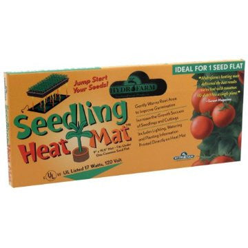 "Hydrofarm Seedling Heat Mat - 9"" x 19½"" ; 17 Watts"