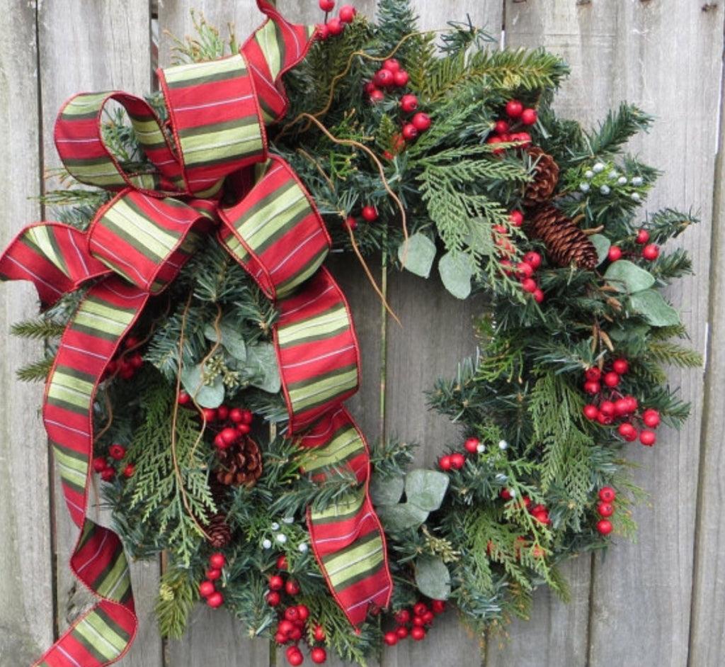 Fresh Christmas Wreaths.Fresh Christmas Wreath Workshop 2019