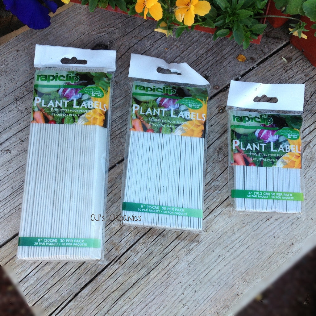 Plastic White Plant Labels