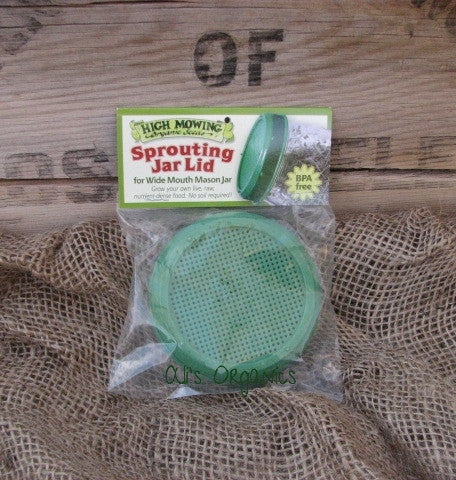 Sprouting Jar Lid for Wide Mouth Mason Jar