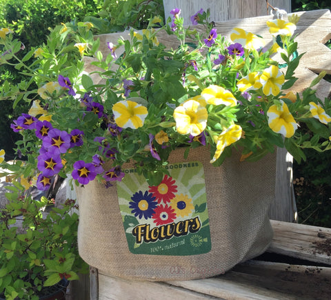 Vintage Flowers Grow Bag
