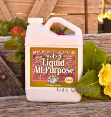 All Purpose Liquid 4-1-3 Organic Fertilizer DTE