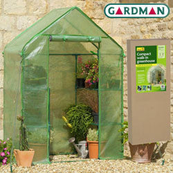 Walk-In Greenhouse with Shelves