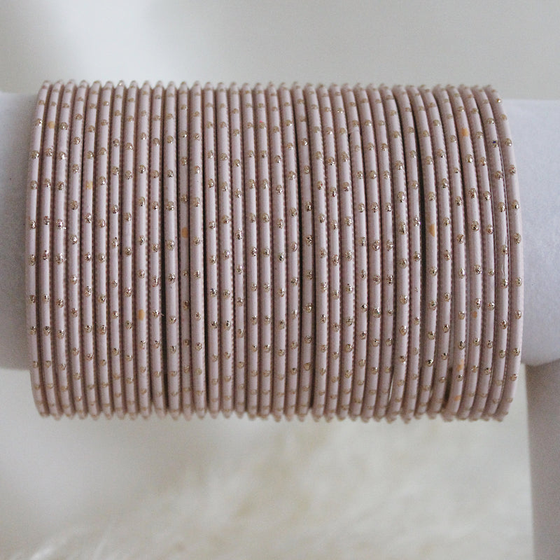 Light Pink Dot Bangles