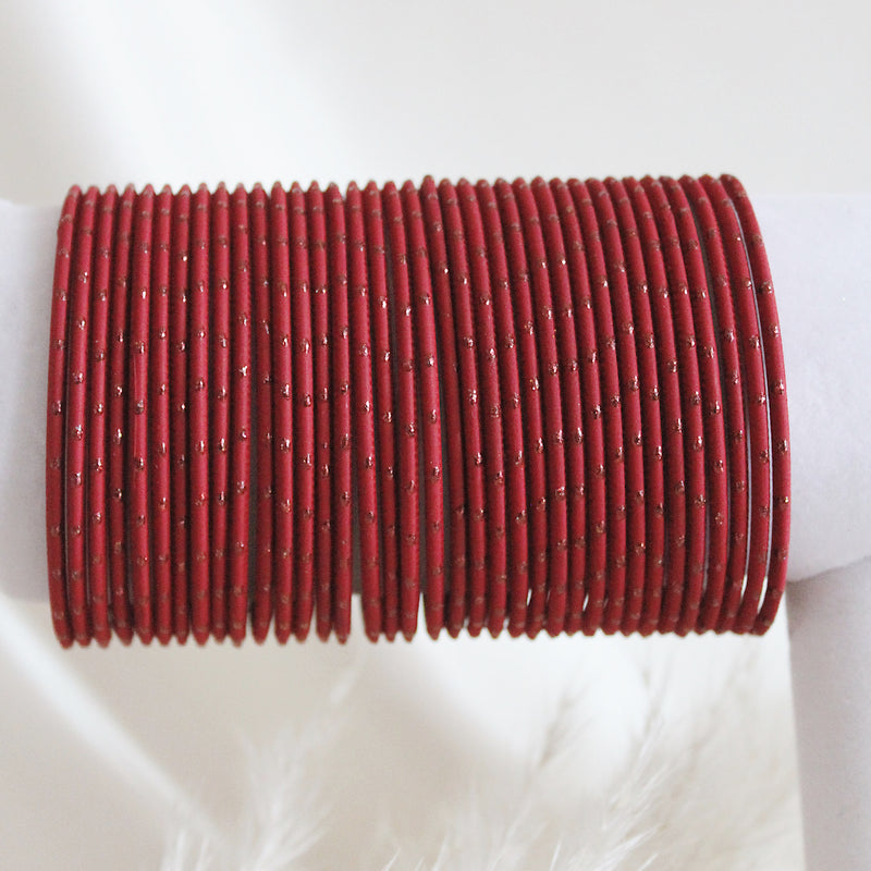 Ruby Red Dot Bangles