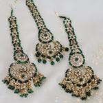 Zarah Earring & Tikka Set (Emerald)