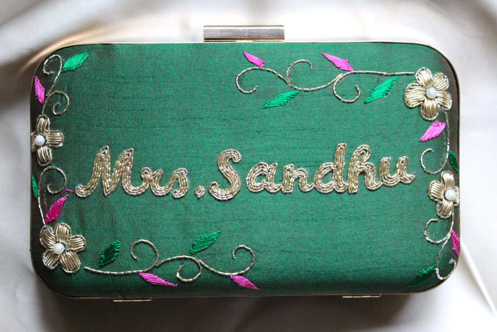 Emerald Personalised Clutch - Nscollection
