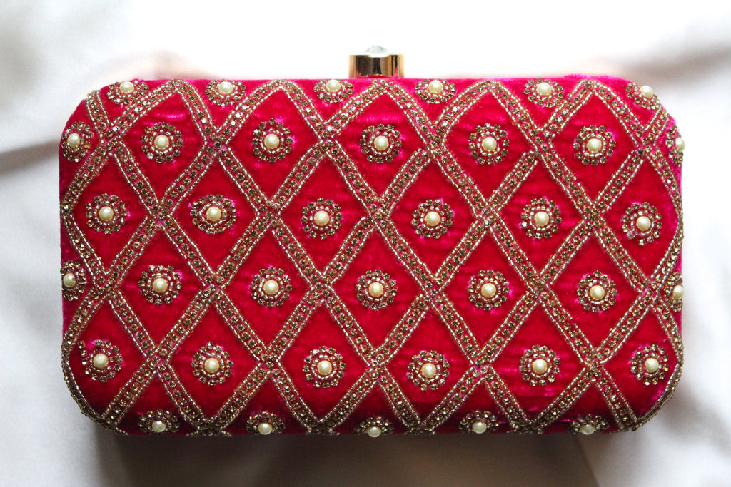 Hot Pink Personalised Clutch - Nscollection