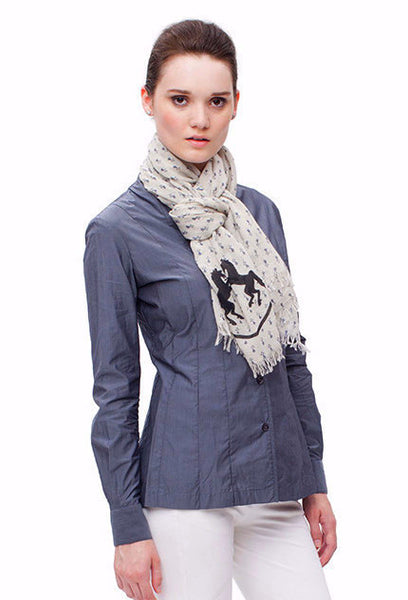 Molly Cashmere Equestrian Scarf
