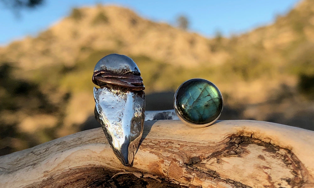 Arrowhead/Labradorite 2cap - Valou ::: Home of the Original 3cap ring design :::
