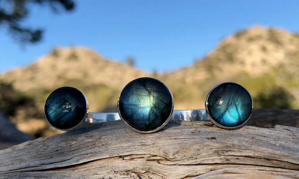 Center Cap Labradorite 3cap - Valou ::: Home of the Original 3cap ring design :::