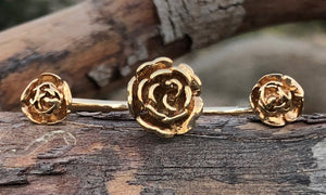 Golden rose 3cap - Valou ::: Home of the Original 3cap ring design :::
