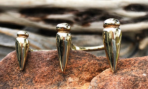 Gold Triple Points - Valou ::: Home of the Original 3cap ring design :::