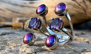 Purple W6 - Valou ::: Home of the Original 3cap ring design :::