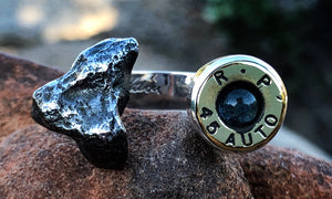 Meteorite Glö Bullet 2cap - Valou ::: Home of the Original 3cap ring design :::