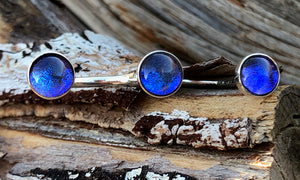 Deep Blue glass 3cap - Valou ::: Home of the Original 3cap ring design :::
