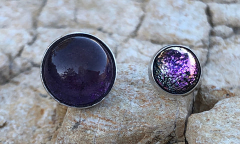 Amethyst glass 2cap - Valou ::: Home of the Original 3cap ring design :::