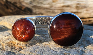 Tiger Eye Sunstone 2cap - Valou ::: Home of the Original 3cap ring design :::