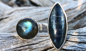 Kyanite/Labradorite 2cap - Valou ::: Home of the Original 3cap ring design :::
