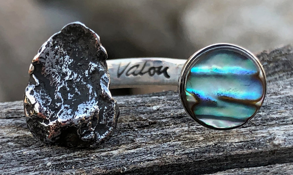 Abalone ~ Meteorite 2cap - Valou ::: Home of the Original 3cap ring design :::