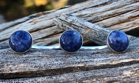 Sodalite 3cap - Valou ::: Home of the Original 3cap ring design :::