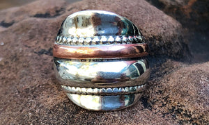 Silver desert ring - Valou ::: Home of the Original 3cap ring design :::