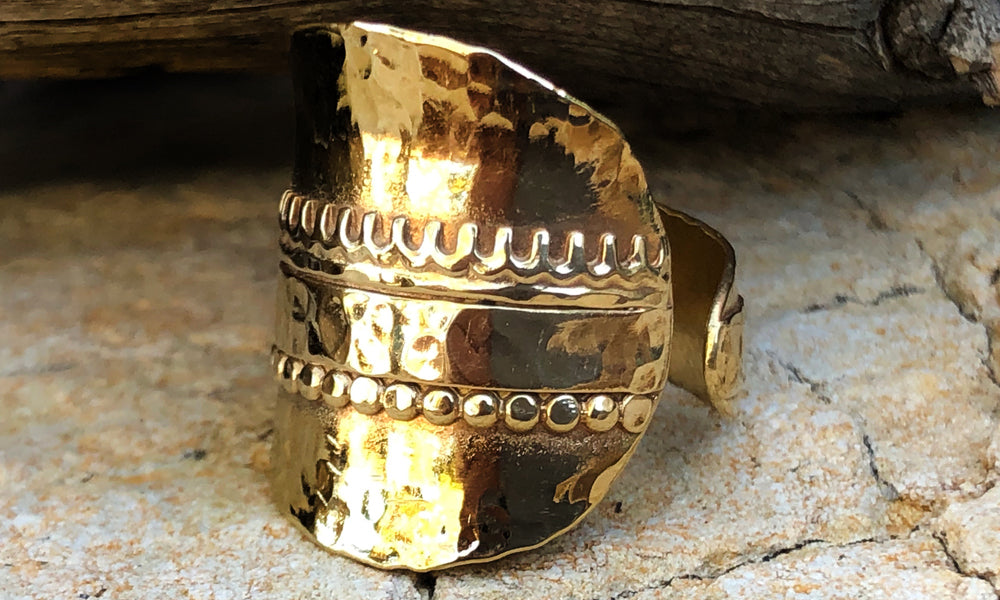 Gold desert ring #2 - Valou ::: Home of the Original 3cap ring design :::