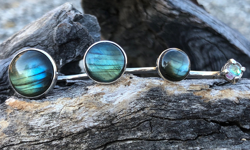 Labradorite 4cap - Valou ::: Home of the Original 3cap ring design :::
