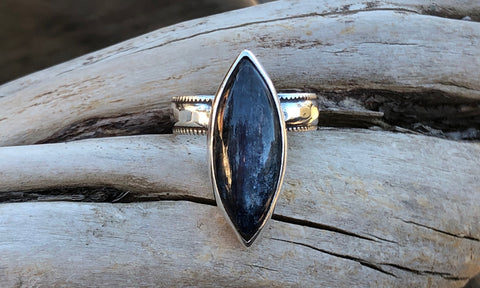 Kyanite Marquise ring #1 - Valou ::: Home of the Original 3cap ring design :::