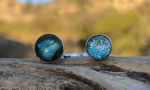 Labradorite/baby-blue 2cap - Valou ::: Home of the Original 3cap ring design :::