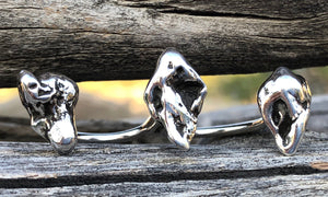 Silver Meteorite 3cap - Valou ::: Home of the Original 3cap ring design :::