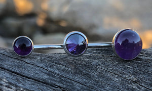 Mixx Amethyst/Purple Cz 3cap - Valou ::: Home of the Original 3cap ring design :::