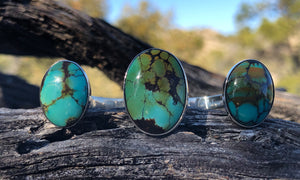 Big Oval Turquoise 3cap
