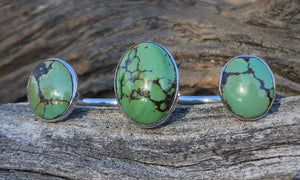 Oval Turquoise 3cap № 3 - Valou ::: Home of the Original 3cap ring design :::