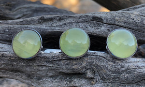 Prehnite 3cap - Valou ::: Home of the Original 3cap ring design :::