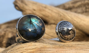 Spiridome Labradorite 2cap - Valou ::: Home of the Original 3cap ring design :::