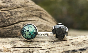Turquoise/ Diamond 2cap - Valou ::: Home of the Original 3cap ring design :::