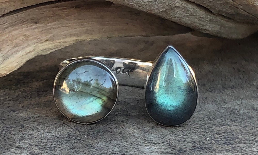 All-Labradorite 2cap - Valou ::: Home of the Original 3cap ring design :::