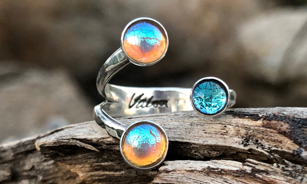 Frosted baby-blue Y3 - Valou ::: Home of the Original 3cap ring design :::