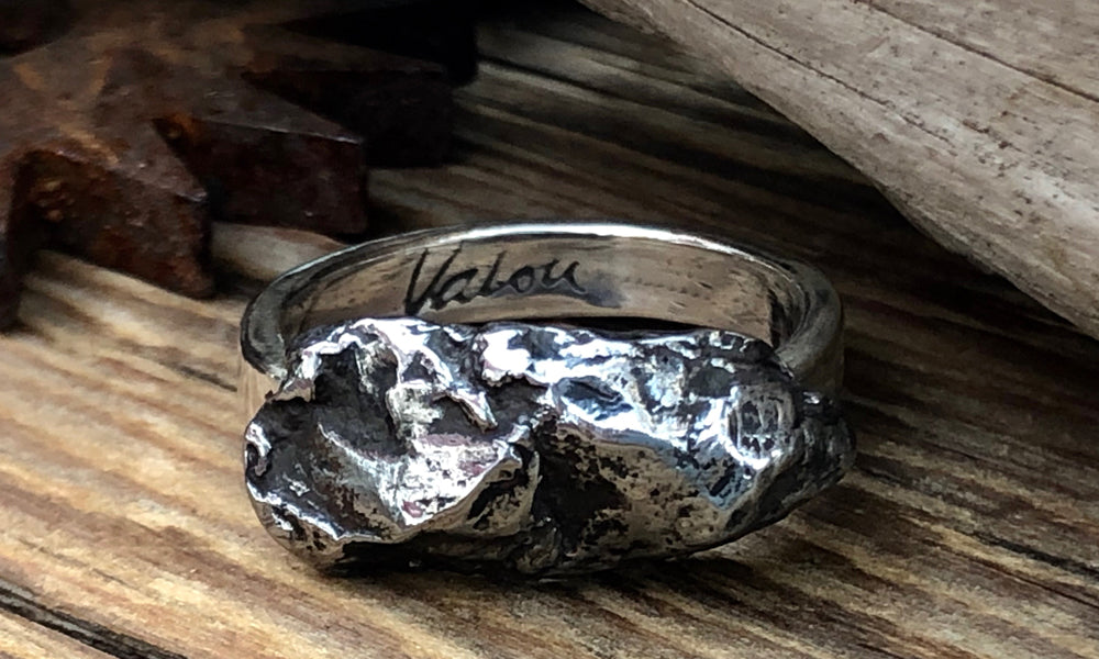 Meteorite Ring #1 - Valou ::: Home of the Original 3cap ring design :::