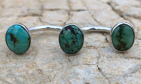 Mini Oval Turquoise 3cap - Valou ::: Home of the Original 3cap ring design :::