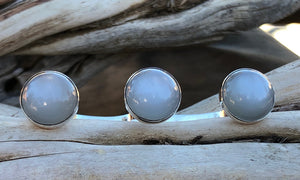 White Moonstone 3cap - Valou ::: Home of the Original 3cap ring design :::