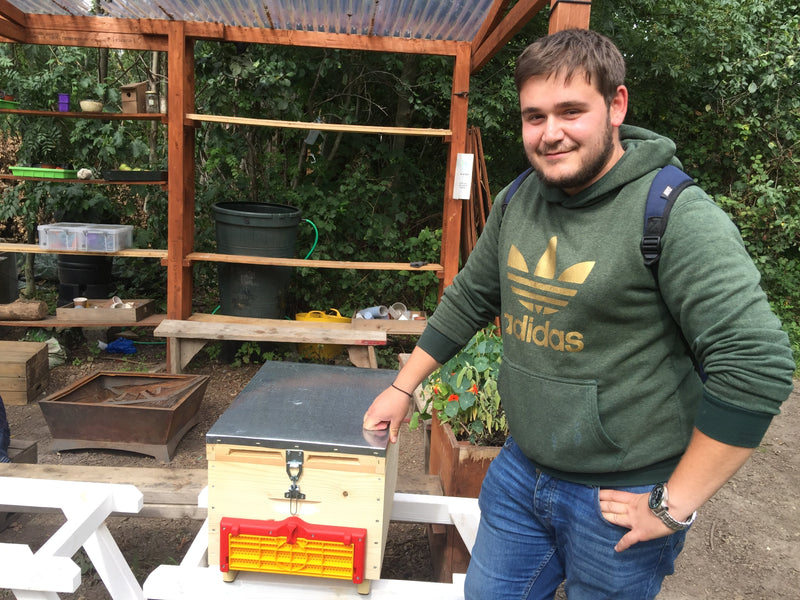 Greek beekeeper Thomas comes to rescue the Wildcat Community beekeeping project